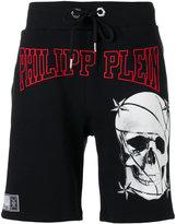 Philipp Plein skull print shorts - men - Cotton - M
