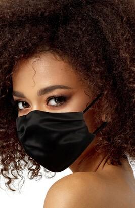 LOVE CHANGES Black Satin Adult Face Mask