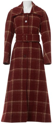 Charlotte Knowles Burgundy Wool Coats