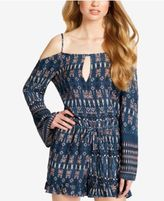 Jessica Simpson Juniors' Printed Cold-Shoulder Romper