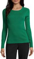 Liz Claiborne Long Sleeve Crew Neck Sweater-Talls