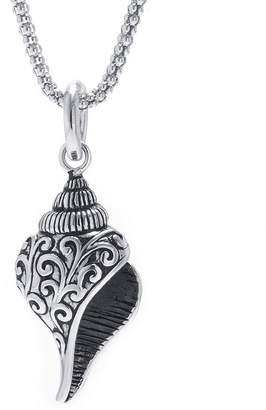 FINE JEWELRY Sea Shell Womens Sterling Silver Pendant