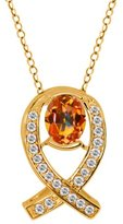 Gem Stone King 2.04 Ct Oval Ecstasy Mystic Topaz White Topaz 14K Yellow Gold Pendant
