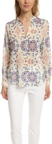 Giada Forte Bianco Butterfly Print Shirt