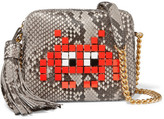 Anya Hindmarch Appliquéd Python Shoulder Bag - Snake print