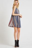 BCBGeneration Striped High-Neck Pleat Dress - Blue