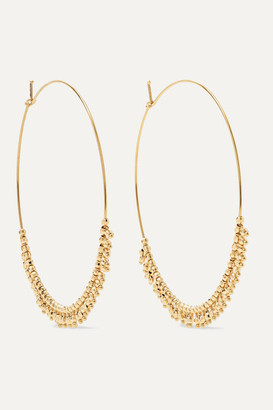 Mizuki 14-karat Gold Hoop Earrings