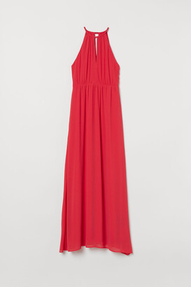 H&M Creped Long Dress - Red