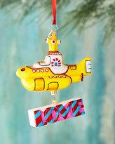 Christopher Radko Beatles Yellow Submarine Ornament with Love