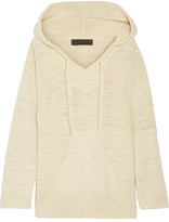 The Elder Statesman Baja Hooded Cashmere Sweater - Ecru