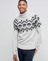 Bellfield Holidays Jacquard Geometric Knitted Sweater