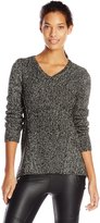 Calvin Klein Women's Marled V-Neck Sweater