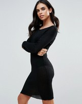 Brave Soul Rib Bodycon Dress