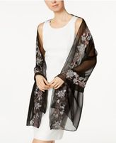 INC International Concepts Floral-Embroidered Evening Wrap, Only at Macy's