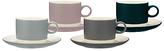 John Lewis Croft Collection Teacup & Saucer, Set of 4