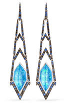 Stephen Webster Lady Stardust 18-karat White Gold Multi-stone Earrings - one size
