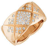 Chanel Coco Crush Ring In 18k Beige Gold And Diamonds, Medium Version.