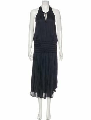 Ulla Johnson Halterneck Long Dress Blue