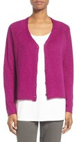 Eileen Fisher Women's Slubbed Organic Linen & Cotton Cardigan
