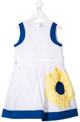Simonetta Sleeveless Flower Patch Dress