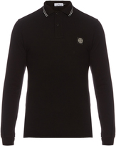 Stone Island Long-sleeved stretch-cotton polo shirt
