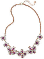 Charter Club Floral Crystal Collar Necklace, Only at Macy's