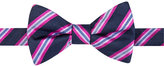 Countess Mara Men's Eugene Reversible Stripe Dot Pre-Tied Bow Tie
