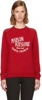 MAISON KITSUNÉ Red palais Royal Sweatshirt