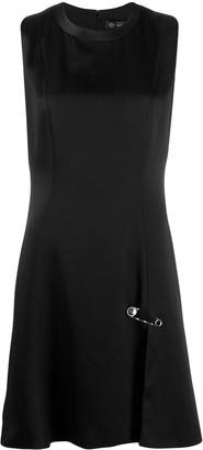 Versace Medusa safety pin flared dress