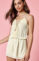 KENDALL + KYLIE Kendall & Kylie Deep V Lace-Up Romper