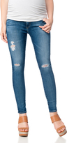 A Pea in the Pod Ag Jeans Secret Fit Belly The Legging Ankle Destructed Maternity Jeans