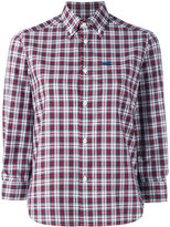 DSQUARED2 cropped sleeve plaid shirt - women - Cotton - 44