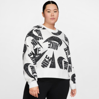 Nike Women's Sportswear Allover Print Fleece Crew Sweatshirt (Plus Size)