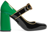 Prada Patent-leather Mary Jane Pumps - Emerald