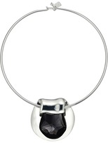 Robert Lee Morris Black Diamond and Silver Round Wire Necklace Necklace