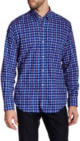 Tailorbyrd Navy Long Sleeve Plaid Woven Shirt
