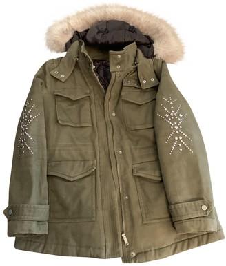Ikks \N Khaki Cotton Coat for Women
