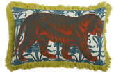 Thomas Paul Tiger Pillow - Aqua