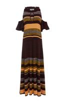 Apiece Apart Striped Ribbed-Knit Cotton Dress