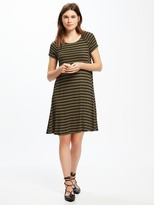 Old Navy Striped Rib-Knit Swing Dress for Women