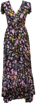 Kita Dua Bali Handmade Backless Printed Black Dress