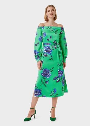 Hobbs Miriam Floral Bardot Dress
