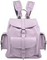 Grafea Lavender Medium Leather Rucksack Lilac