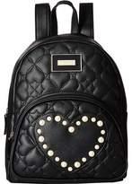 Betsey Johnson Pearl Heart Backpack