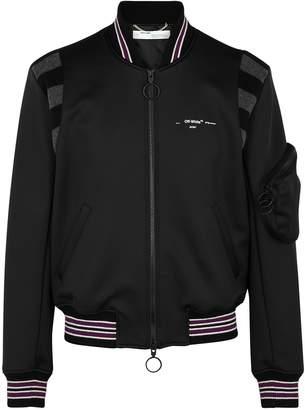 Off-White Off White Black neoprene bomber jacket