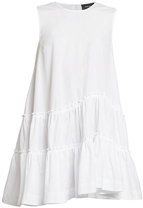 Simone Rocha Tiered Ruffle Cotton Poplin Dress