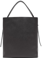 Valextra Sacca Medium Grained-leather Tote Bag - Womens - Black