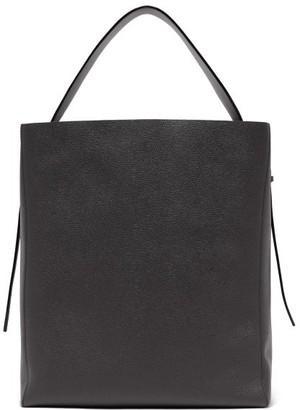 Valextra Sacca Medium Grained-leather Tote Bag - Black