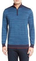 Bugatchi Men's Quarter Zip Cotton Sweater