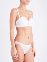 Wolford Stretch Lace floral-lace and mesh bandeau bra